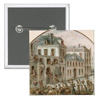 El alboroto de Reveillon de abril de 1789 Pin Cuadrado