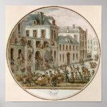 El alboroto de Reveillon de abril de 1789 Póster