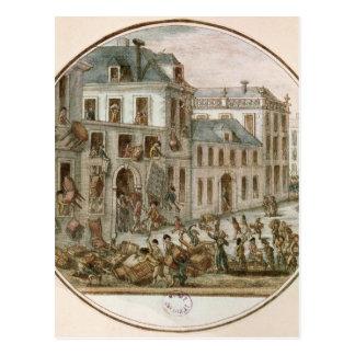 El alboroto de Reveillon de abril de 1789 Tarjetas Postales