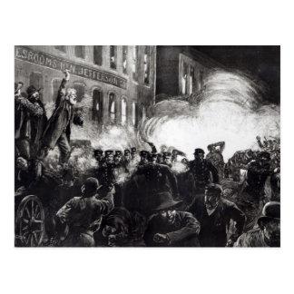 El alboroto del anarquista en Chicago Tarjetas Postales
