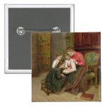 El álbum de la familia, 1869 (aceite en lona) pin cuadrada 5 cm