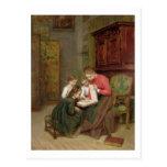 El álbum de la familia, 1869 (aceite en lona) tarjeta postal