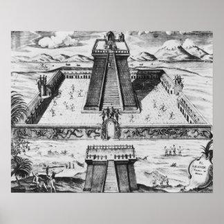 El alcalde de Templo en Tenochtitlan Impresiones