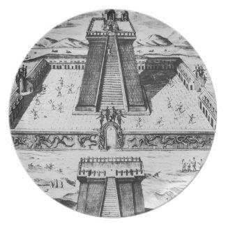El alcalde de Templo en Tenochtitlan Platos