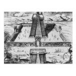 El alcalde de Templo en Tenochtitlan Tarjetas Postales