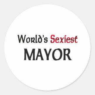 El alcalde más atractivo del mundo pegatina redonda