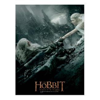 El alcanzar de Gandalf y de Galadriel Tarjetas Postales