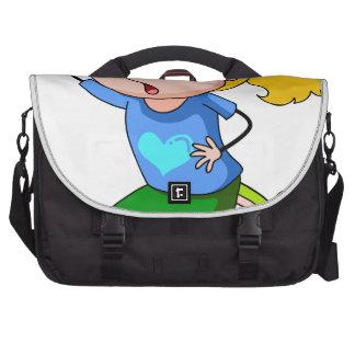 El alcanzar del chica bolsas para portátil
