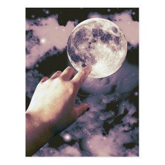 ¡El alcanzar para la luna! Tarjeta Postal