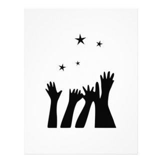 El alcanzar para las estrellas membrete personalizado