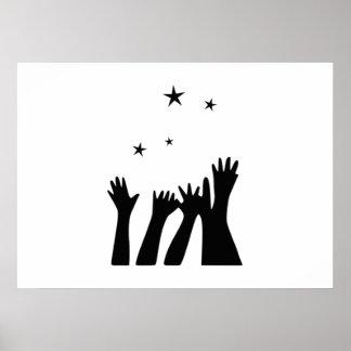 El alcanzar para las estrellas poster