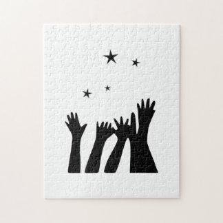 El alcanzar para las estrellas rompecabezas con fotos