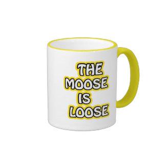 El alce es flojo taza de café
