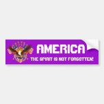 El alcohol de América no se olvida por favor consi Pegatina De Parachoque