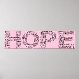 El alcohol de la esperanza (texto negro) posters