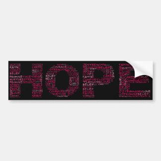El alcohol de la esperanza (texto rosado) pegatina para auto