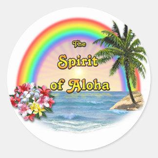 El alcohol de la hawaiana pegatina redonda
