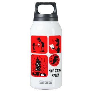 El alcohol de Navidad Botella Isotérmica De Agua