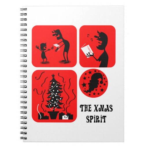 El alcohol de Navidad Notebook