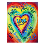 El alcohol del corazón del arco iris redacta la postales