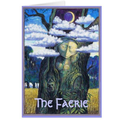 El alcohol del Faerie en árbol Tarjeta De Felicitación