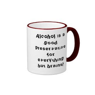 El alcohol es un buen preservativo para todo b… taza de dos colores