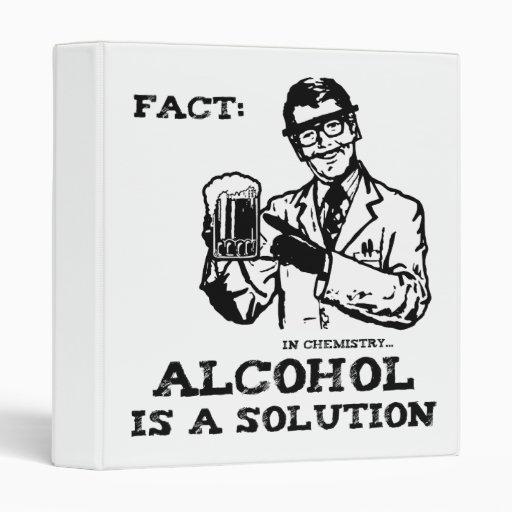 El alcohol es una solución en la química retra