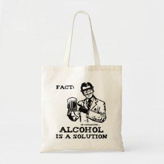 El alcohol es una solución en la química retra bolsa tela barata