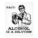 El alcohol es una solución en la química retra tarjetas publicitarias