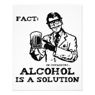 """El alcohol es una solución en la química retra folleto 4.5"""" x 5.6"""""""