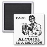 El alcohol es una solución en la química retra imán cuadrado