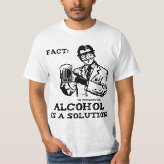 El alcohol es una solución en la química retra remeras