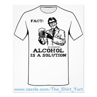 """El alcohol es una solución en química folleto 4.5"""" x 5.6"""""""