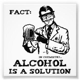 El alcohol es una solución en química fotografía