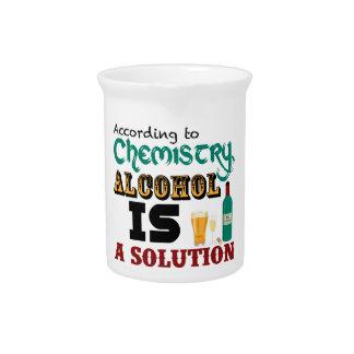 El alcohol es una solución jarron