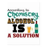 El alcohol es una solución tarjeta postal