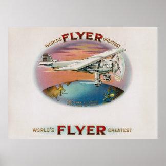 El alcohol más grande del aviador del mundo del póster