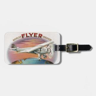 El alcohol más grande del vintage del aviador del etiquetas maleta