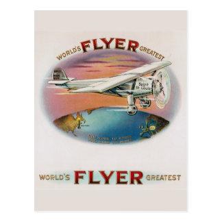 El alcohol más grande del vintage del aviador del tarjeta postal