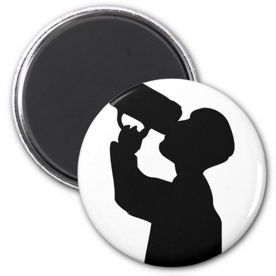 el alcohol más oktoberfest del boozer imán redondo 5 cm