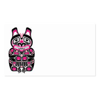 El alcohol rosado y negro del Haida refiere negro Plantilla De Tarjeta Personal