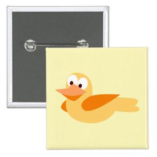 El alegre y divertido pato  volando pin