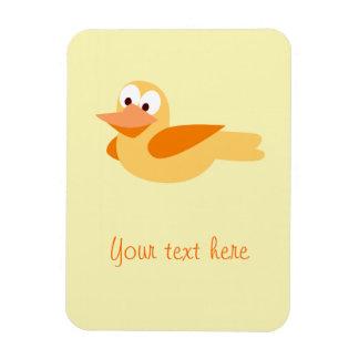 El alegre y divertido pato volando imanes flexibles