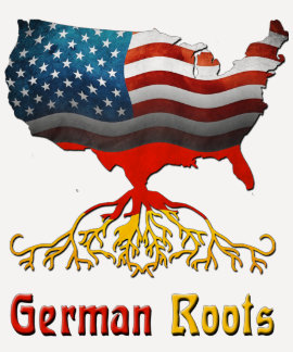 El alemán americano arraiga las camisetas de las s