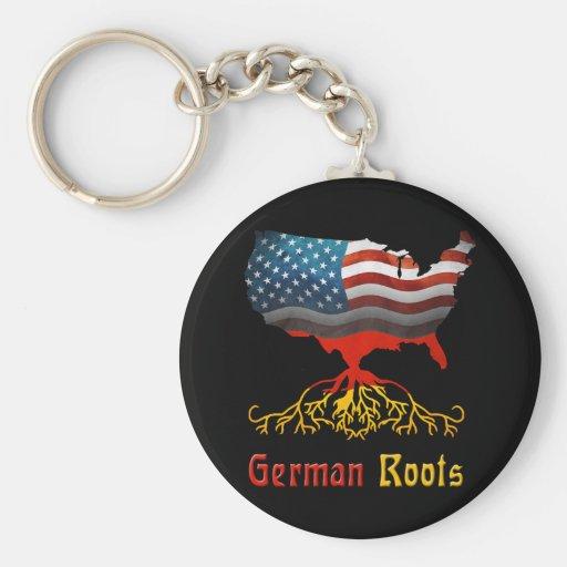El alemán americano arraiga llavero
