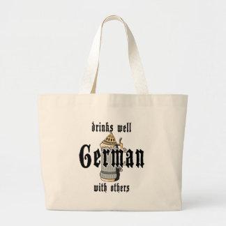 El alemán bebe bien con otros Oktoberfest Bolsa De Tela Grande