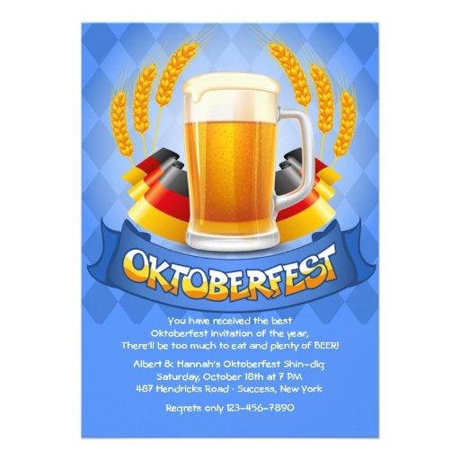El alemán colorea la invitación de Oktoberfest
