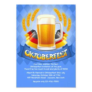 El alemán colorea la invitación de Oktoberfest Invitación 12,7 X 17,8 Cm