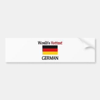 El alemán más caliente del mundo pegatina de parachoque