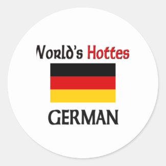 El alemán más caliente del mundo pegatinas redondas